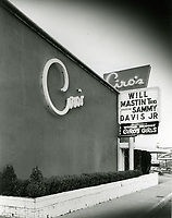 1955 Ciro's Nightclub on Sunset Blvd. in West Hollywood with Sammy Davis on the marquee