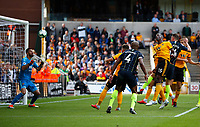Football - 2018 / 2019 Premier League - Wolverhampton Wanderers vs. Manchester City<br /> <br /> Aymeric Laporte of Manchester City scoring at Molineux.<br /> <br /> COLORSPORT/LYNNE CAMERON