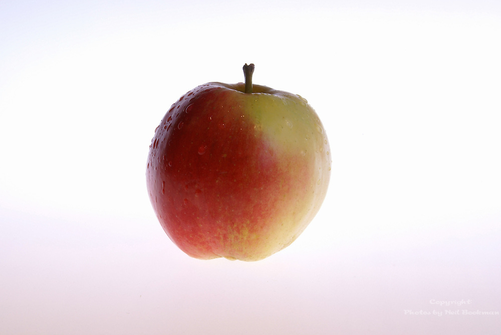 An apple on a white background.