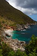 Zingaro Nature Reserve, Scopello, Sicily, Italy. Zingaro was the first natural reserve in Sicily, set up in 1981,