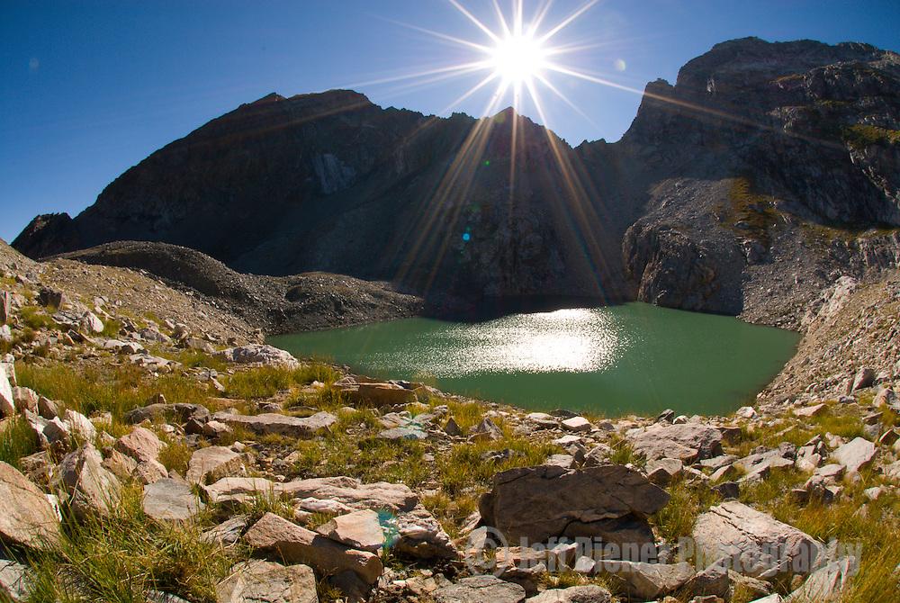 Timberline Lake sits below Buck Mountain in Grand Teton National Park, Jackson Hole, Wyoming.