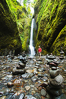 Hiking in the Oneonta Gorge. Columbia River Gorge, OR