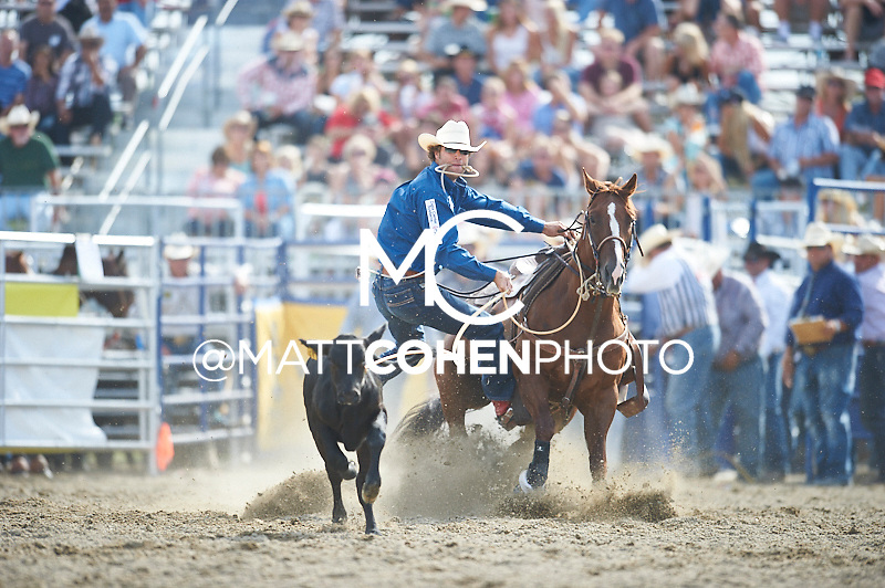 Tie-down roper Adam Gray of Seymour, TX competes at the Rancho Mission Viejo Rodeo in San Juan Capistrano, CA.  <br /> <br /> <br /> UNEDITED LOW-RES PREVIEW<br /> <br /> <br /> File shown may be an unedited low resolution version used as a proof only. All prints are 100% guaranteed for quality. Sizes 8x10+ come with a version for personal social media. I am currently not selling downloads for commercial/brand use.