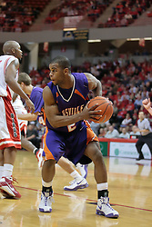 31 December 2008:  Kavon Lacey gets inside of Emmanuel Holloway for a rebound. Illinois State University Redbirds extended their record to 13-0 with an 80-50 win over the Evansville Purple Aces on Doug Collins Court inside Redbird Arena on the campus of Illinois State University in Normal Illinois
