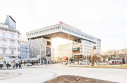 THEMENBILD - Der Westbahnhof in Wien bildet als Kopfbahnhof den Ausgangspunkt der Westbahn und liegt im 15. Bezirk Rudolfsheim-Fünfhaus, im Bild die BahnhofCity Wien West. Aufgenommen am 19. Februar 2017 // Wien Westbahnhof (Vienna West station) is a major Austrian railway station, the original starting point of the West railway (Westbahn) and is located in the 15th District Rudolfsheim-Fünfhaus, This picture shows the BahnhofCity Wien West, Vienna, Austria on 2017/02/19. EXPA Pictures © 2017, PhotoCredit: EXPA/ Sebastian Pucher