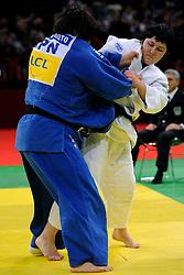 06-02-2011 JUDO: IJF GRAND SLAM PARIS 2011: PARIS<br /> Lucija Polavder SLO lost the final from Japanese Megumi Tachimoto<br /> ©2011-WWW.FOTOHOOGENDOORN.NL