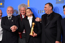 January 6, 2019 - Los Angeles, California, U.S. - Roger Taylor, Brian May, Rami Malek and Graham King in the Press Room during the 76th Annual Golden Globe Awards at The Beverly Hilton Hotel. (Credit Image: © Kevin Sullivan via ZUMA Wire)