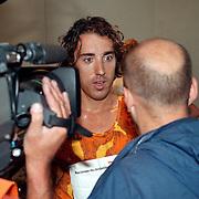 NK traplopen 1997 Rotterdam finish, interview Bart Veldkamp