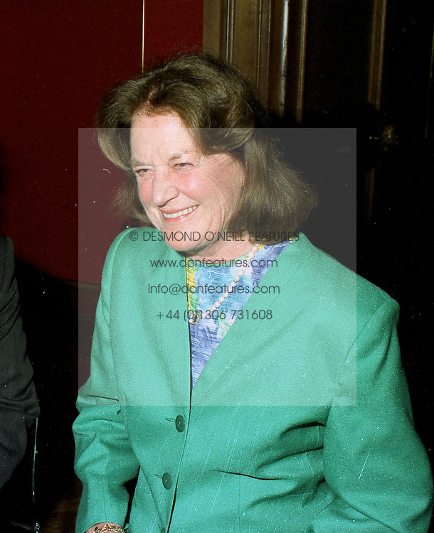 MRS JOHN GOUGH, mother of the Marquess of Blandford, at an auction in London on 21st May 1997.LYN 2 WO