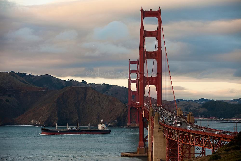 SAN FRANCISCO, CA - NOV 6:  The Golden Gate Bridge seen from the Presidio on November 6, 2010 in San Francisco, California.  Photography by David Paul Morris
