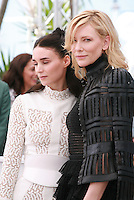 Actress Rooney Mara and actress Cate Blanchett at the photocall for the film Carol at the 68th Cannes Film Festival, Sunday May 17th 2015, Cannes, France.