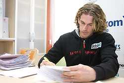 Jurij Rovan when Slovenian athletes and their coaches sign contracts with Athletic federation of Slovenia for year 2009,  in AZS, Ljubljana, Slovenia, on March 2, 2009. (Photo by Vid Ponikvar / Sportida)