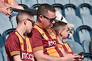 Bradford City Fans during the EFL Sky Bet League 1 match between Rochdale and Bradford City at Spotland, Rochdale, England on 21 April 2018. Picture by Mark Pollitt.