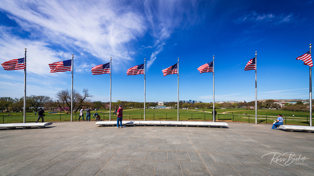 Tourists enjoying the view from the Washington Monument, Washington, DC USA