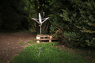 An abandoned music stand in the grounds of Grange Park in Hampshire. The Grange Festival will have its inaugural season in June, 2017 after parting with its previous tenants, Grange Park Opera, who enjoyed 16 years at the award winning theatre. <br /> Picture date: Thursday October 20, 2016.<br /> Photograph by Christopher Ison ©<br /> 07544044177<br /> chris@christopherison.com<br /> www.christopherison.com