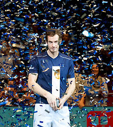 30.10.2016, Stadthalle, Wien, AUT, ATP Tour, Erste Bank Open, Siegerehrung, im Bild Andy Murray (GBR) // Andy Murray of Great Britain during Winner Award Ceremony of Erste Bank Open of ATP Tour at the Stadthalle in Vienna, Austria on 2016/10/30. EXPA Pictures © 2016, PhotoCredit: EXPA/ Sebastian Pucher