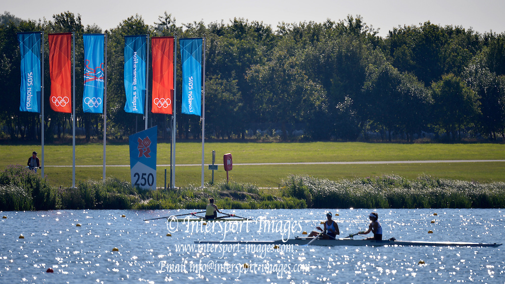 Eton Dorney, Windsor, Great Britain,..2012 London Olympic Regatta, Eton Rowing Centre, Berkshire[ Rowing]...Description; General views start area of the rowing course.  11:42:34  Monday  23/07/2012. [Mandatory Credit: Peter Spurrier/Intersport Images]. July/Aug