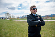 Jay Bostrom, soccer coach and Spanish teacher of Diren Dede, a 17-year-old German exchange student who was shot and killed by a neighbor, at Fort Missoula on the soccer field where Dede played on May 2, 2014.