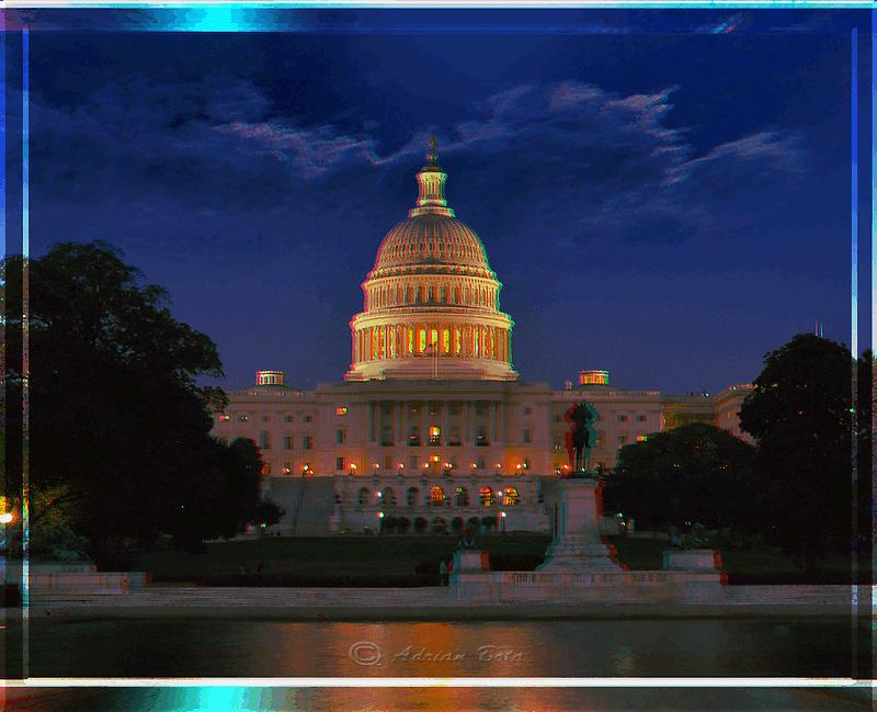 The Capitol at night, Washington DC