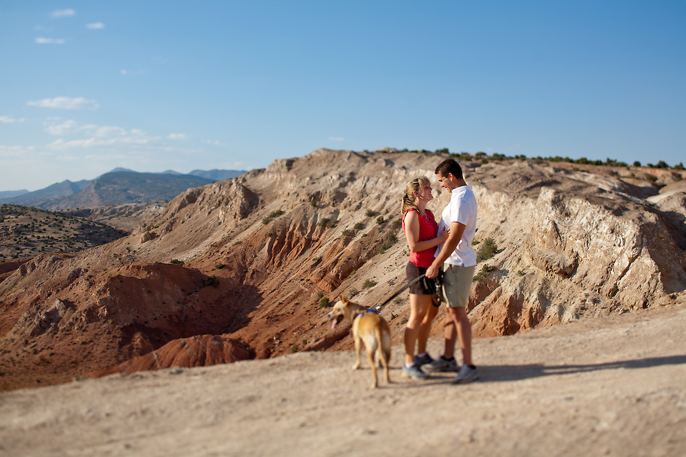 Juliette Brewer Michael Smith Engagement portraits at White Mesa New Mexico