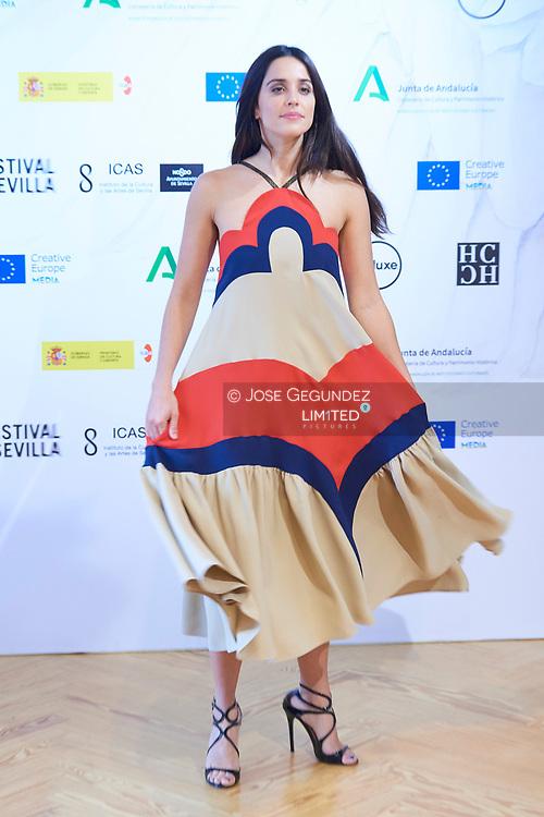 Actress Macarena Garcia attends 'El arte de volver' Photocall during 17 Festival de Sevilla at Academia de Cine on November 7, 2020 in Madrid, Spain