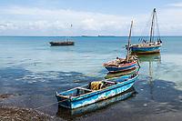 Fishing boats at anchor , Quifuki Island, Mozambique