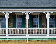 Company Officers' Quarters, constructed 1866-68 to house two Captains and four Lieutenants, Fort Larned National Historic Site, Santa Fe Trail, Kansas.