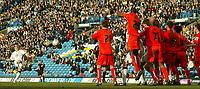 Photo: Aidan Ellis.<br /> Leeds United v Luton Town. Coca Cola Championship. 10/03/2007.<br /> Leeds Robbie Blake curls his free kick over the Luton wall but hits the cross bar