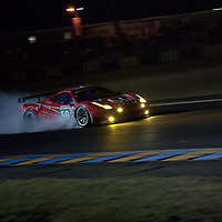 #59, Ferrari 458 Italia, Luxury Racing, Drivers: Ortelli, Makowiecki, Melo, GTE Pro, Wednesday night qualifying, Le Mans 24H 2011