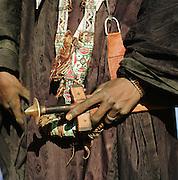 Detail of a Tuareg tribesman with his sword. Libya