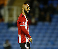 David McGoldrick of Sheffield Utd celebrates scoring the first goal during the FA Cup match at the Madejski Stadium, Reading. Picture date: 3rd March 2020. Picture credit should read: Simon Bellis/Sportimage