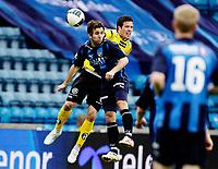 Fotball<br /> Toppserien<br /> Ullevål  Stadion 24.05.10<br /> Stabæk - Start<br /> Epen Hoff i duell med Hunter Freeman<br /> Foto: Eirik Førde