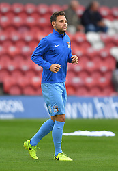 Coventry City's Tony Andreu warms up