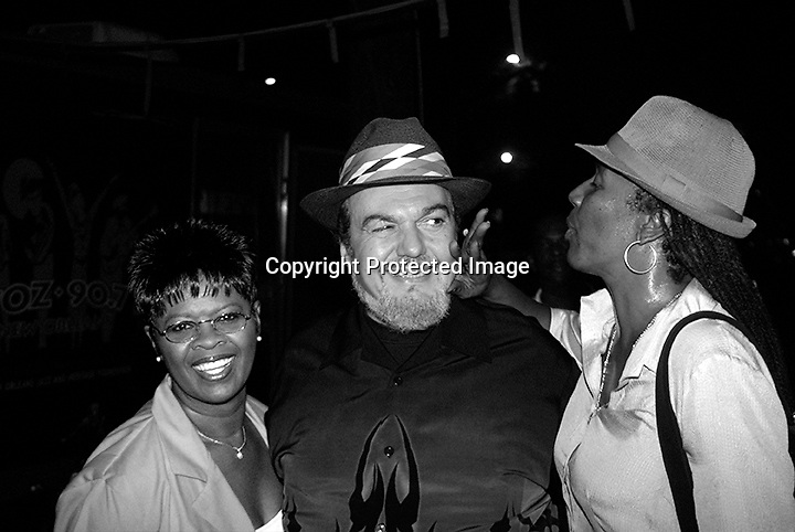 PH0TO BY STEVEN FORSTER<br /> Davell Crawford Birthday party at Tip's uptown Saturday September 20, 2003. Irma Thomas, Dr. John, Charmaine Neville.