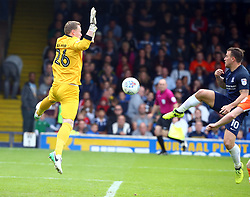 September 30, 2017 - Southend, England, United Kingdom - Simon Cox of Southend United scores his sides second goal .during Sky Bet League one match between Southend United against Blackpool at  Roots Hall,  Southend on Sea England on 30 Sept  2017  (Credit Image: © Kieran Galvin/NurPhoto via ZUMA Press)