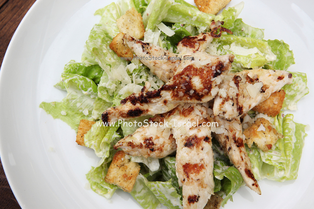 a plate of lean chicken breast salad