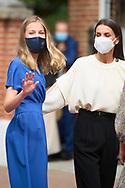 Queen Letizia of Spain, Crown Princess Leonor attends for The Confirmation of Princess Leonor at Asuncion de Nuestra Senora Church  on May 28, 2021 in Madrid, Spain