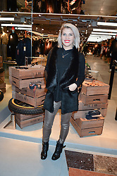 LONDON, ENGLAND 8 DECEMBER 2016: Pips Taylor at a party to celebrate the collaboration of Taylor Morris Eyewear and The Morgan Motor Company held at Harvey Nichols, Knightsbridge, London, England. 8 December 2016.