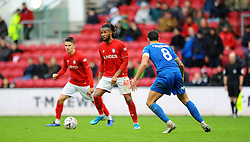 Kasey Palmer of Bristol City tries to get past Oliver Norburn of Shrewsbury Town- Mandatory by-line: Nizaam Jones/JMP - 04/01/2020 - FOOTBALL - Ashton Gate - Bristol, England - Bristol City v Shrewsbury Town - Emirates FA Cup third round