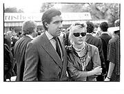 Louis Basualdo and Daphne Guinness. Arc de Triomphe. Paris. 1984 approx © Copyright Photograph by Dafydd Jones 66 Stockwell Park Rd. London SW9 0DA Tel 020 7733 0108 www.dafjones.com