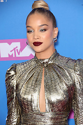 August 21, 2018 - New York City, New York, USA - 8/20/18.Jasmine Sanders at the 2018 MTV Video Music Awards held at Radio City Music Hall in New York City..(NYC) (Credit Image: © Starmax/Newscom via ZUMA Press)