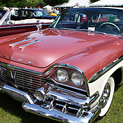 A 1958 Dodge Custom Royal Lancer Super D-500 at the Greenwich Concours d'Elegance Festival of Speed and Style featuring great classic vintage cars. Roger Sherman Baldwin Park, Greenwich, Connecticut, USA.  2nd June 2012. Photo Tim Clayton