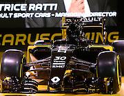 Renault R.S.16 chassis<br /> PARIS, RENAULT Formula 1 team presentation, Formel 1 Grand Prix Team Vorstellung in Frankreich <br />  fee liable image - Photo Credit: © ATP / GROMIK Thierry