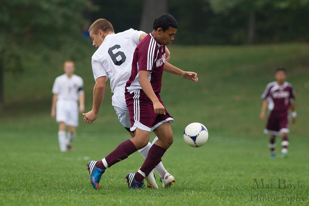 Pitman High School Boys Soccer hosts Wildwood High School at Alcyon Park in Pitman, NJ on Thursday October 4, 2012. (photo / Mat Boyle)