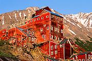 Alaska. Kennicott Mine in the Wrangell St. Elias national Park Mountains.
