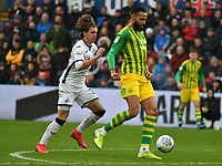 Football - 2019 / 2020 Sky Bet (EFL) Championship - Swansea City vs. West Bromwich Albion<br /> <br /> Kyle Bartley of WBA chased by Conor Gallagher of Swansea City, at The Liberty Stadium.<br /> <br /> COLORSPORT/WINSTON BYNORTH