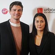 London, UK, 20th September 2017. Josh Hartnett and Atsuko Hirayanagi attend Raindance 25th Film Festival Opening Gala at VUE Leicester Square.