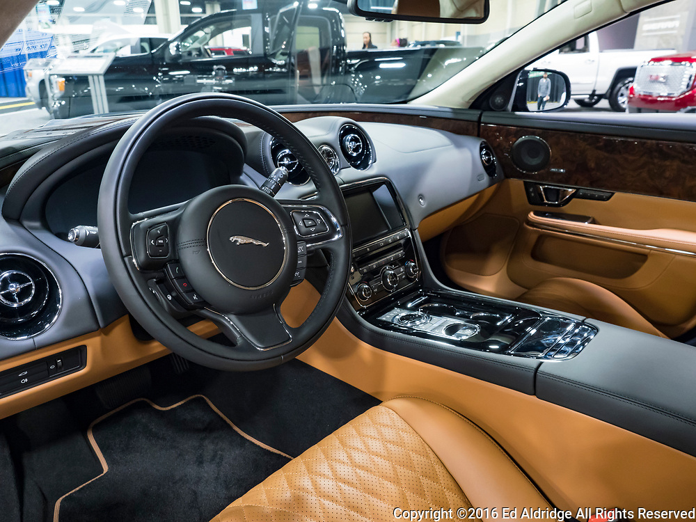 CHARLOTTE, NC, USA - NOVEMBER 17, 2016: Jaguar XJL Portfolio on display during the 2016 Charlotte International Auto Show at the Charlotte Convention Center in downtown Charlotte.