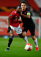 Football - 2020 / 2021 EUFA Europa League - Round of 32 - Second Leg - Manchester United  vs Real Sociedad - Old Trafford<br /> <br /> Fred of Manchester United and Mikel Oyarzabel of Real Sociedad at Old Trafford<br /> <br /> Credit COLORSPORT/LYNNE CAMERON