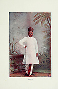 Bania Man from Typical Pictures of Indian Natives Being reproduction from Specially prepared hand-colored photographs. By F. M. Coleman (Times of India) Seventh Edition Bombay 1902